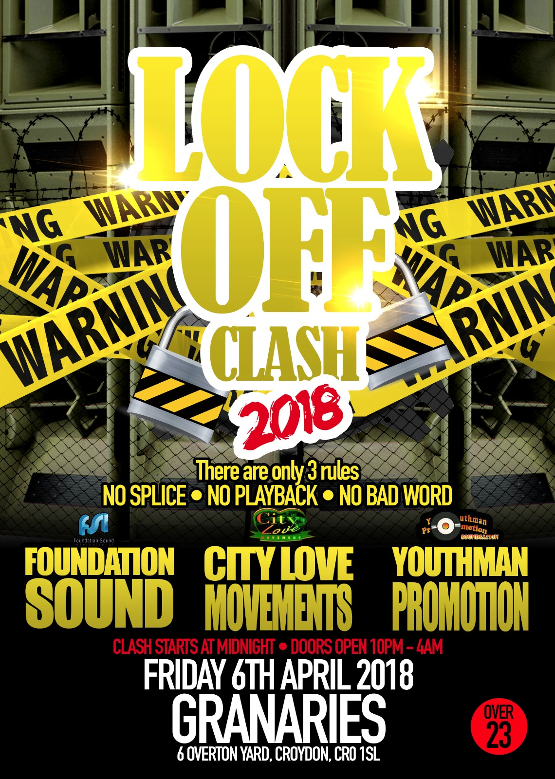 Lock Off Clash 6th April 2018